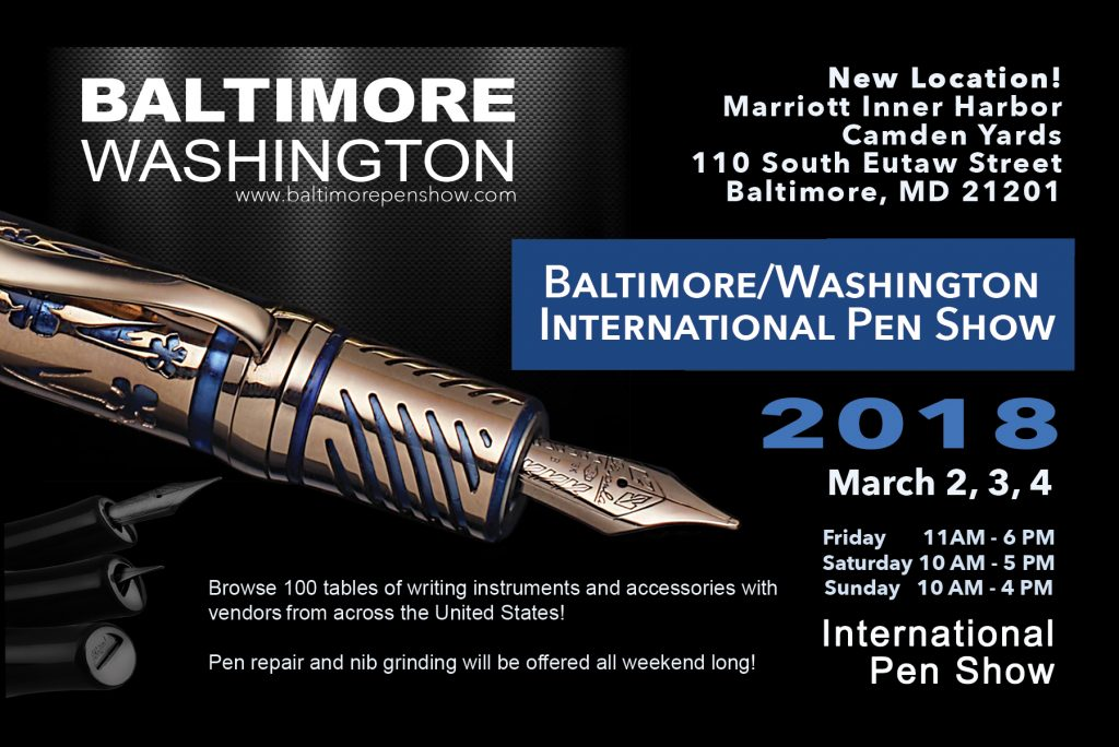 Baltimore Washington Pen Show Post Card