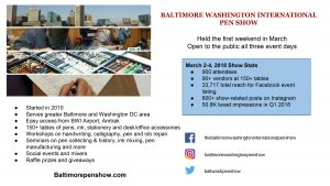 Baltimore Washington International Pen Show Media Kit