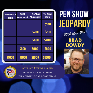 Pen Show Jeopardy at BWIPS2020
